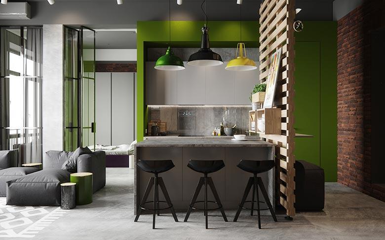 北欧混搭风 开放式厨房吧台设计