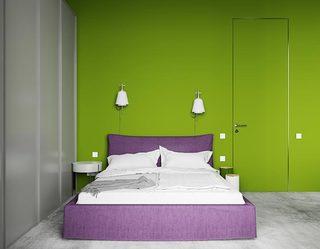 70㎡北欧单身公寓卧室平面图