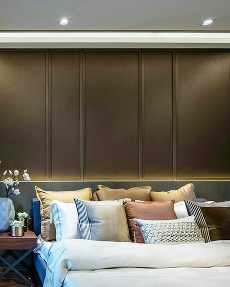 简约风格公寓卧室床头设计