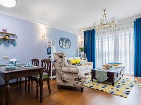 80平美式风格两居室装修 小户型也要精致