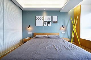 94平北欧三居室卧室背景墙装饰