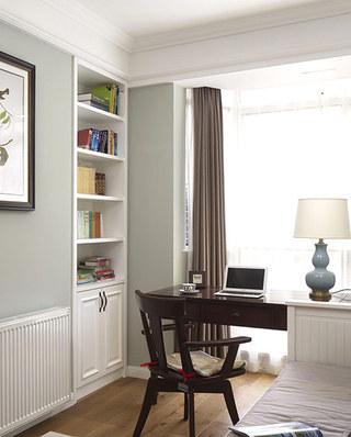 129平美式风格公寓书房装潢设计