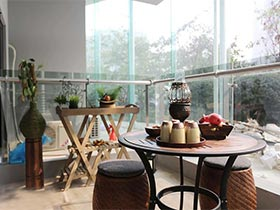 5款休闲田园风阳台设计 我的空中花园