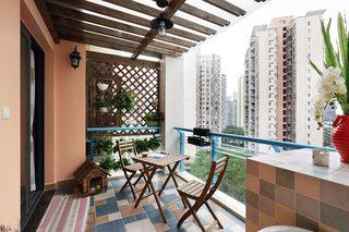 休闲阳台设计构造图