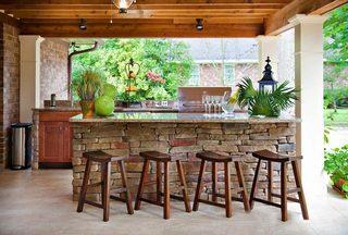 庭院吧台设计实景图片