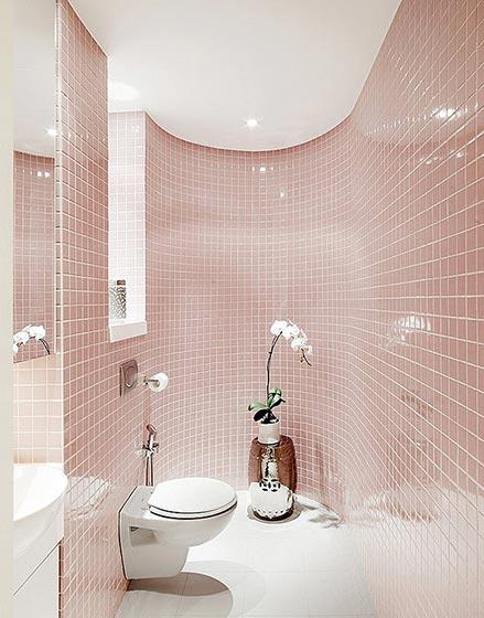 粉色系卫生间设计平面图