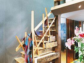 收纳小心思  10款楼梯间收纳装修图
