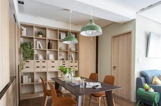 60平日式二居室餐厅装潢装修图