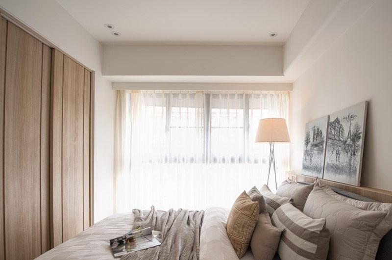 自然简约日式卧室整体图