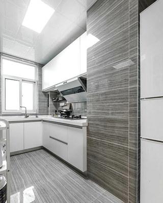 装修效果图 家居美图 现代简约风格厨房现代简洁灰色窗帘2013厨房吊顶