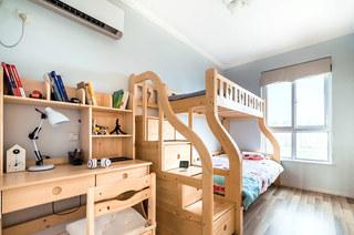90平简约两居室儿童房上下床效果图