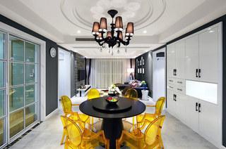 136平简约风格公寓餐厅装潢图
