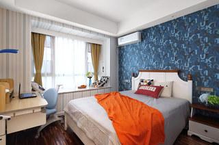 136平简约风格公寓卧室效果图