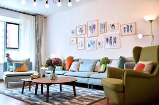169平北欧三居室客厅效果图