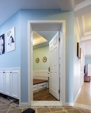 时尚清新美式公寓卧室门设计