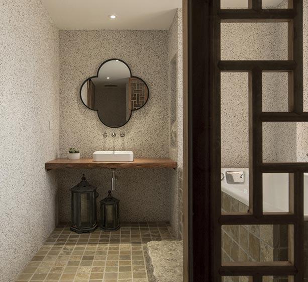 120㎡现代中式公寓卫生间平面图