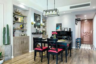 100平混搭风格公寓餐厅装潢设计
