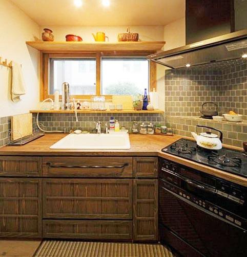 美式厨房收纳装修效果图