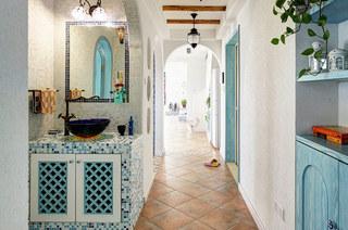 地中海风格洗手台装饰欣赏