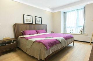 朴素北欧风情卧室效果图