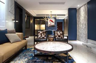 180平样板房装修客厅效果图