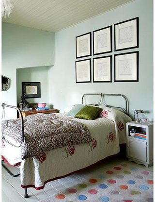 小清新卧室布置摆放图