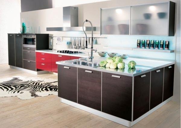 极简开放式厨房设计布置图