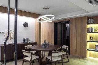 现代简中式 实木餐厅效果图