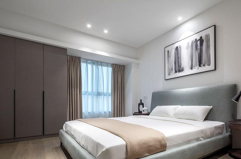 高端都市现代风卧室效果图