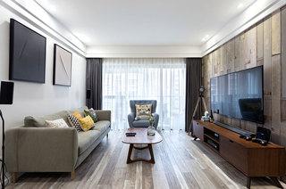 80平北欧三居室客厅效果图