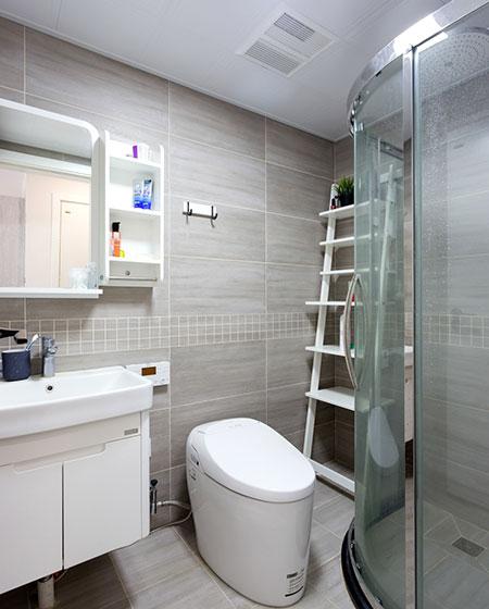 80平北欧三居室卫生间效果图