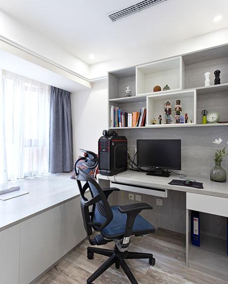 80平北欧三居室书房装修实景图_齐家网装修效果图图片