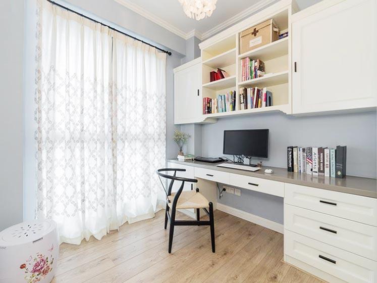 90㎡现代美式两居书房实景图