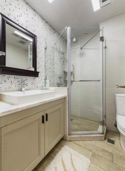 90㎡现代美式两居卫生间平面图