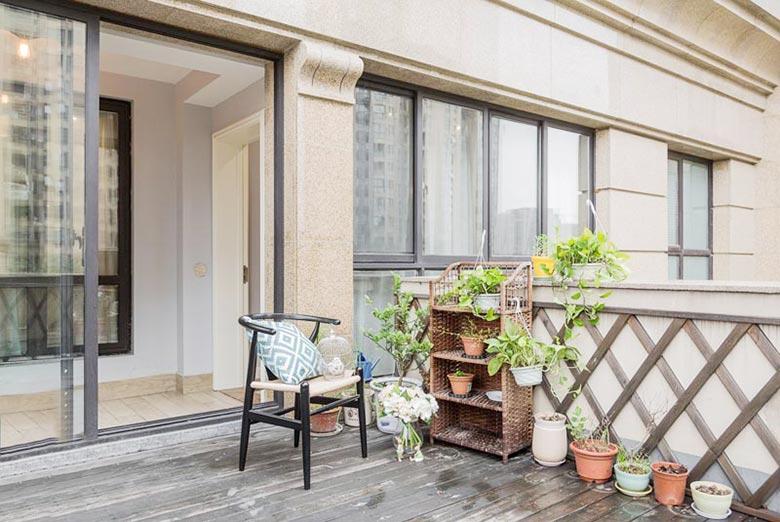 90㎡现代美式两居花园装修图