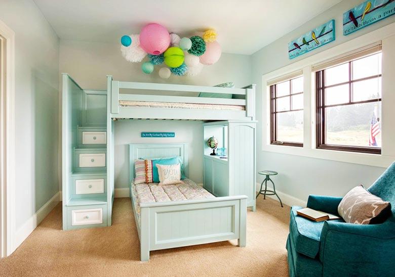 简约复式装修儿童房布置图图片