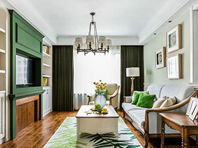 117平美式风格三室两厅装修 满室生机