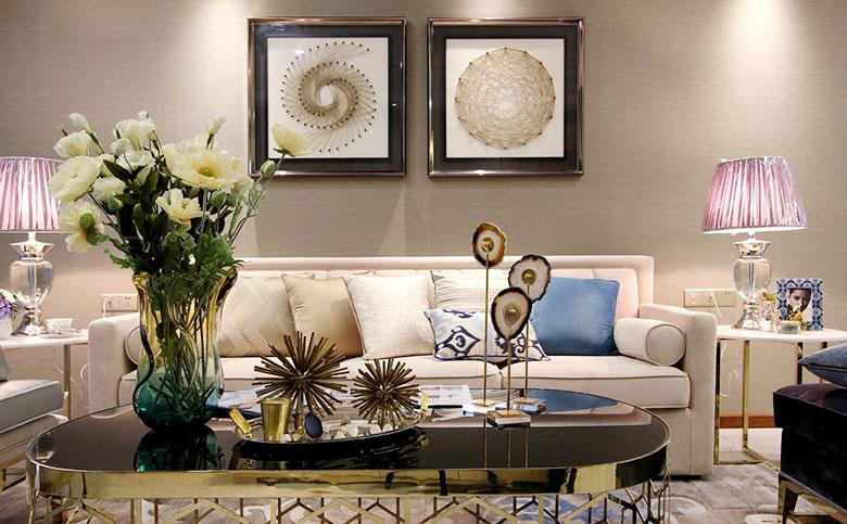 古典欧式客厅 艺术照片墙设计