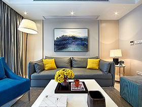 清爽现代新中式三居 打造完美线条感