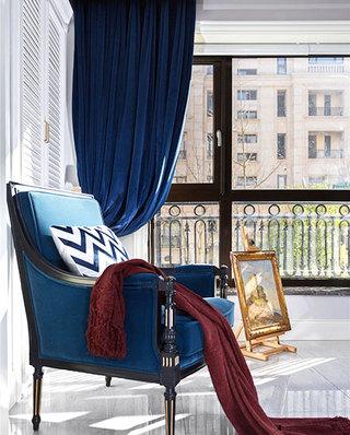 新古典风格复式装修休闲沙发图片