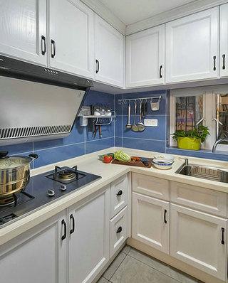 75平美式混搭二居厨房装潢设计图