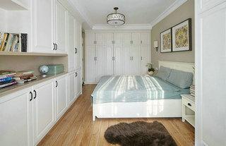 简美式卧室 白色整体衣柜设计