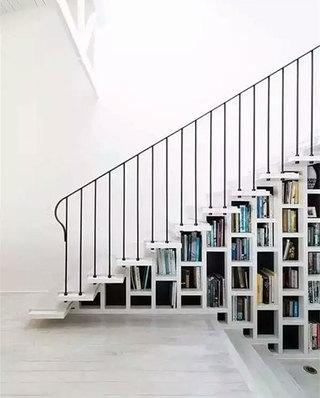 11个创意楼梯书架效果图 巧妙藏书空间9/11