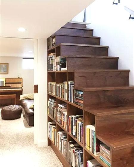 楼梯书架装修效果图大全