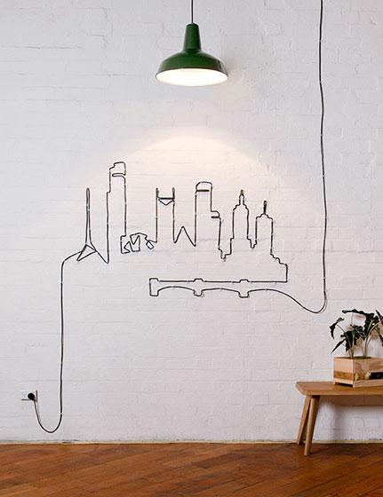背景墙改造设计实景图