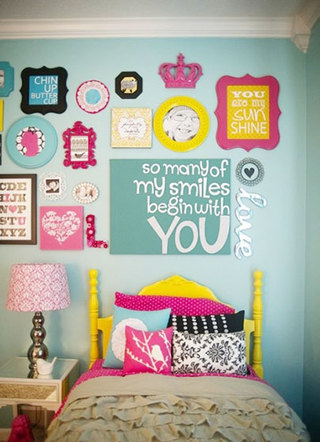 室内照片墙设计欣赏图