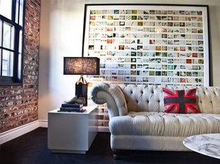 室内照片墙设计平面图