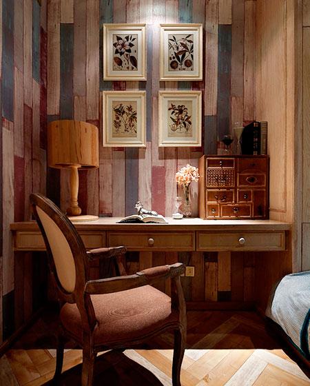 65平小户型样板房卧室书桌图片