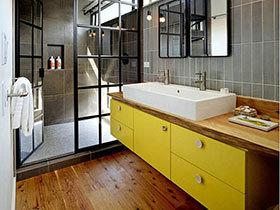 10个卫生间复古洗手台设计 工业怀旧风