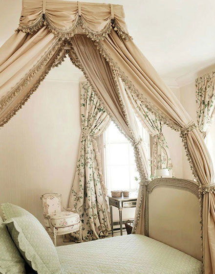 浪漫卧室床幔装修设计图